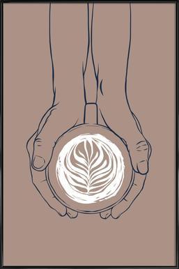 Coffee affiche encadrée