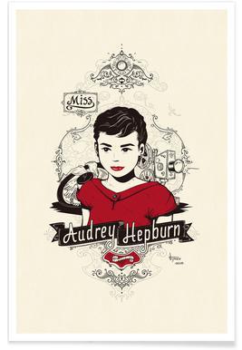 Miss Audrey Hepburn -Poster