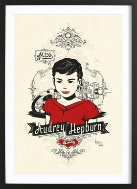 Miss Audrey Hepburn Framed Print