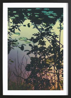 The Afternoon Lake ingelijste print