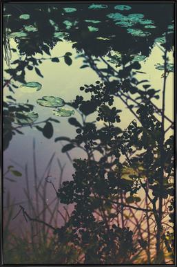 The Afternoon Lake - Poster in kunststof lijst