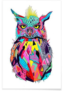 Abstract Owl Poster