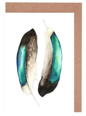 Feathers III -Grußkarten-Set