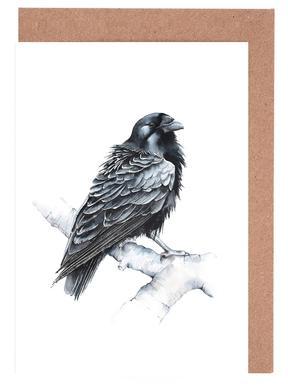 Raven Greeting Card Set