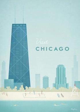 Chicago -Leinwandbild