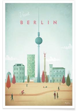 Vintage Berlin Travel Poster