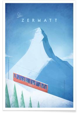 Zermatt vintage - Voyage affiche