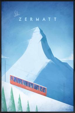 Zermatt affiche encadrée