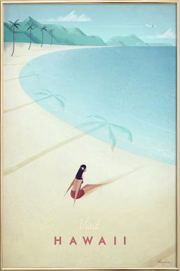 Hawaii Poster in Aluminium Frame