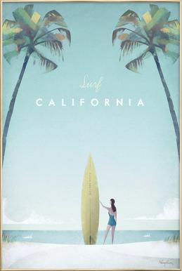 California Poster in Aluminium Frame