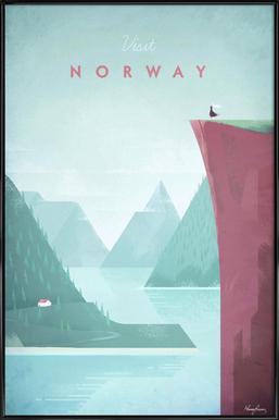 Norway - Affiche sous cadre standard