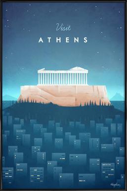 Athens - Affiche sous cadre standard