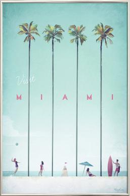 Miami poster in aluminium lijst