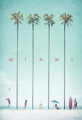 Miami acrylglas print