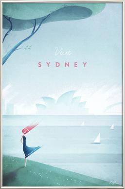 Sydney Poster in Aluminium Frame