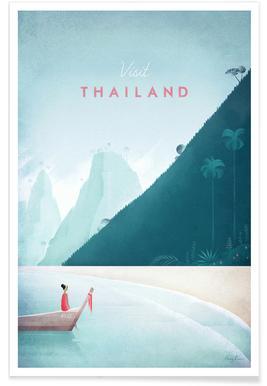 Thaïlande vintage - Voyage affiche