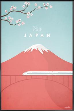 Japan - Affiche sous cadre standard