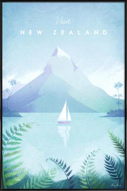 New Zealand Framed Poster
