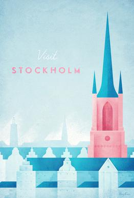 Stockholm acrylglas print