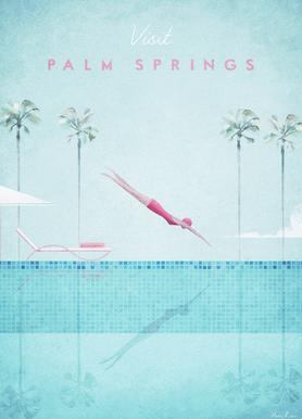Palm Springs canvas doek