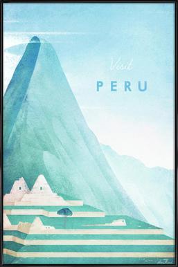 Peru ingelijste poster