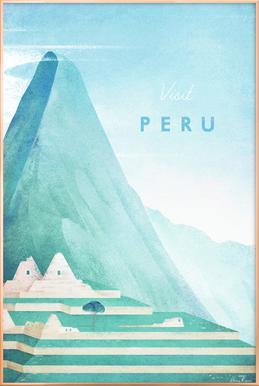 Peru poster in aluminium lijst