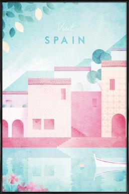 Spain ingelijste poster