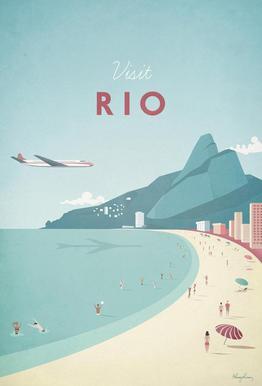 Rio Aluminium Print