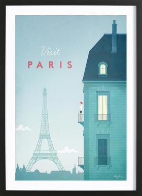 Paris Poster i träram