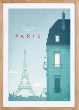 Paris - Poster in Wooden Frame