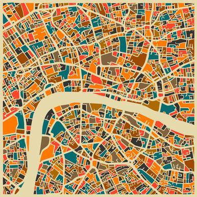 London -Acrylglasbild