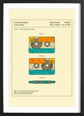 Cassette Framed Print