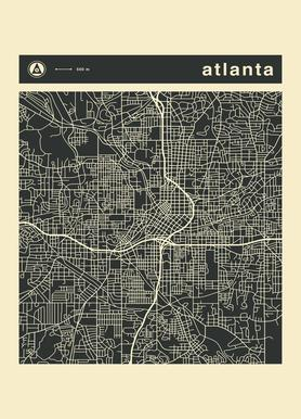 City City Maps Series 3s Series 3 - Atlanta
