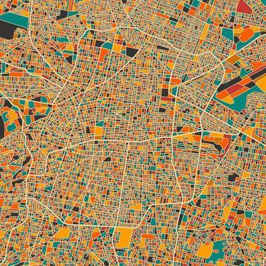 Mexico City -Leinwandbild