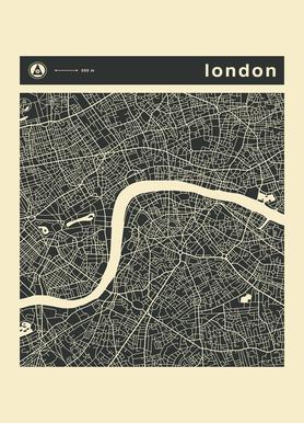 City Maps Series 3 Series 3 - London Canvas Print
