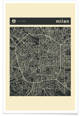 City Maps Series 3 Series 3 - Milan Poster