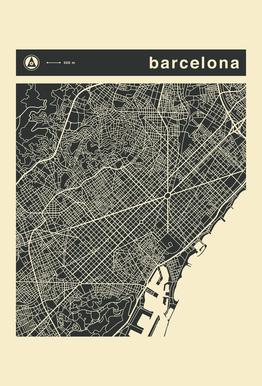 City Maps Series 3 Series 3 - Barcelona Acrylic Print