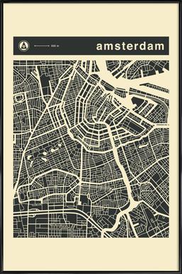 City Maps Series 3 Series 3 - Amsterdam ingelijste poster