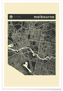 City Maps Series 3 Series 3 - Melbourne poster