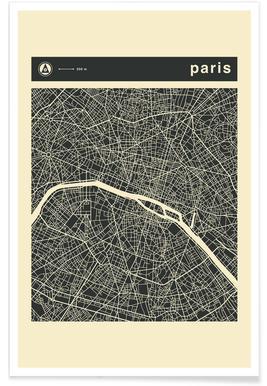 City Maps Series 3 - Paris poster