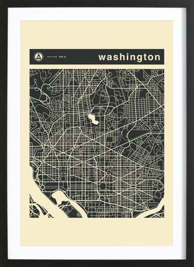 City Maps Series 3 - Washington Framed Print