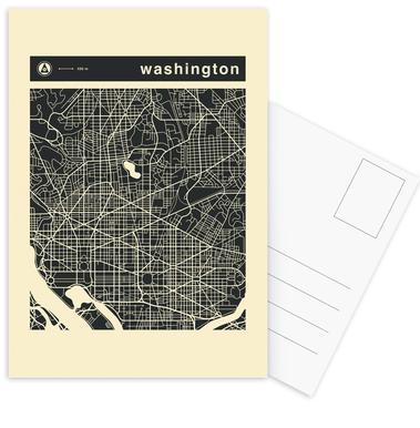 City Maps Series 3 - Washington -Postkartenset
