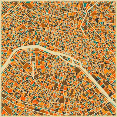 Paris -Acrylglasbild