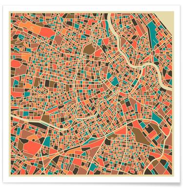 Vienna Colourful Map Poster