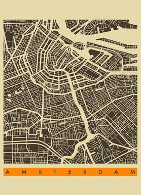 Amsterdam II canvas doek
