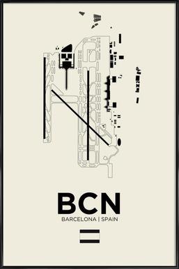 BCN Airport Barcelona -Bild mit Kunststoffrahmen