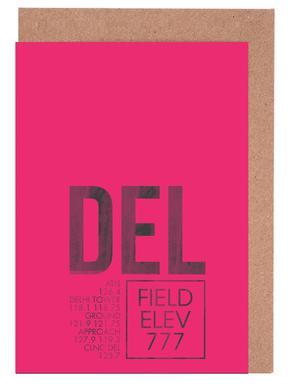 DEL Delhi -Grußkarten-Set