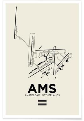 AMS Airport Amsterdam poster