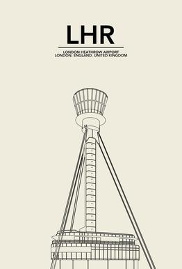 LHR London Tower -Acrylglasbild