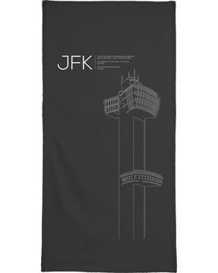 JFK New York Tower Black Bath Towel